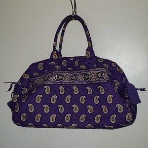 Vera Bradley Purple Weekender Bag